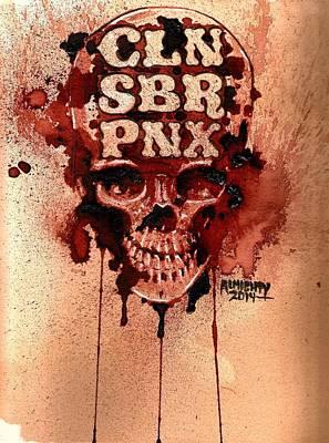 Cln Sbr Pnx Print by Ryan Almighty