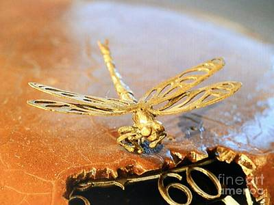 Russia Photograph - Dragonfly On Peacock Clock by Margaret Brooks
