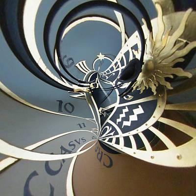 Zodiac Digital Art - Clockface 13 by Philip Openshaw
