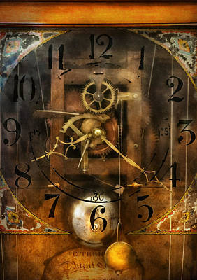 Clockmaker - A Sharp Looking Time Piece Print by Mike Savad
