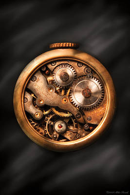 Watchmaker Photograph - Clockmaker - Gears by Mike Savad