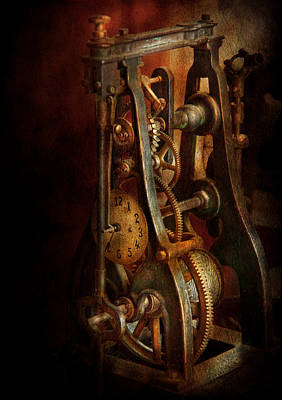 Clockmaker - Careful I Bite Print by Mike Savad