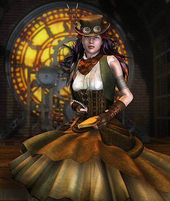Steampunk Digital Art - Clockwork by Mary Hood