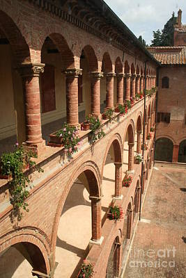 Olivetti Photograph - Cloistered Courtyard by Christiane Schulze Art And Photography