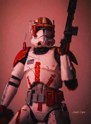 Fight Digital Art - Clone Commander Cody - Da by Leonardo Digenio