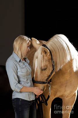 Horse Photograph - Close Relationship Between Humans And Animals by Wolfgang Steiner