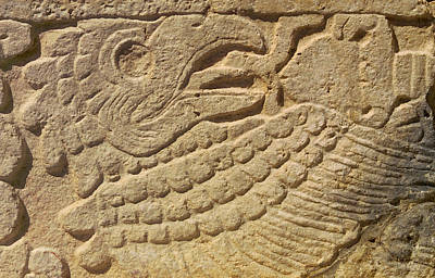 Close-up Of A Mayan Print by Raul Touzon