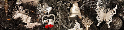 Doll Photograph - Close-up Of Christmas Ornaments by Panoramic Images