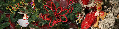 Doll Photograph - Close-up Of Toys On Christmas Tree by Panoramic Images