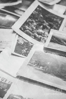 Heirlooms Photograph - Close Up On Old Black And White Photographs by Jorgo Photography - Wall Art Gallery