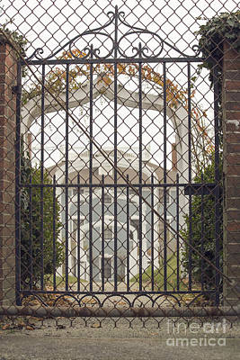 Lighthouse Photograph - Closed Gate To An Old Mansion by Edward Fielding