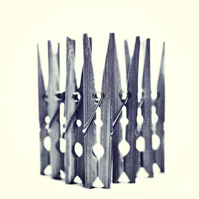 Laundry Photograph - Clothespin by Priska Wettstein