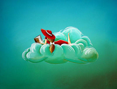 Whimsy Painting - Cloud 9 by Cindy Thornton