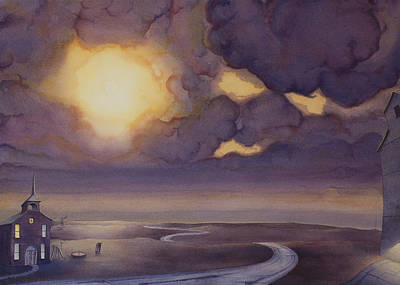 Cloud Break On The Northern Plains II Print by Scott Kirby