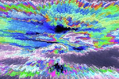 Abstract Digital Art Photograph - Cloud Energy by Carol Groenen