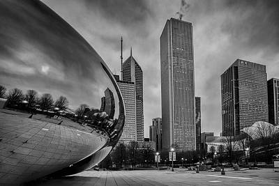 Horizontal Photograph - Cloud Gate by Andrew Soundarajan