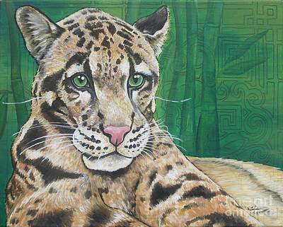 Clouded Leopard Painting - Clouded Leopard by Natalie Huggins
