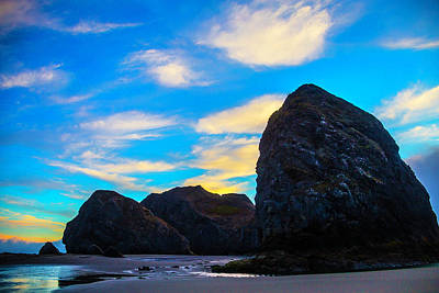 Costal Photograph - Clouds And Costal Rocks by Garry Gay