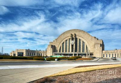 Train Depot Photograph - Clouds At Cincinnati's Union Terminal by Mel Steinhauer