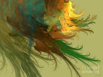Clouds Of Color Print by Deborah Benoit