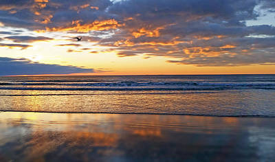 Ocean Photograph - Clouds On Fire by Melanie Madden Digital Illumination