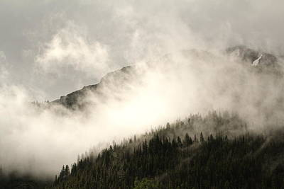 Photograph - Clouds On The Mountain by Crystal Magee