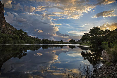 Blue Photograph - Clouds Over The Salt River Arizona by Dave Dilli