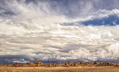 Clouds Over Trona Pinnacles Print by Duane Miller