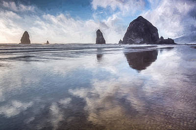 Rock Images Digital Art - Clouds Reflecting II by Jon Glaser