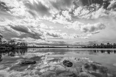 Clouds Touching The Water Print by Jon Glaser