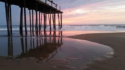 Beach Photograph - Cloudy Morning Reflections by Robert Banach
