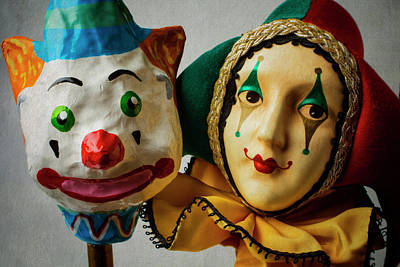 Eccentric Photograph - Clown And Jester by Garry Gay