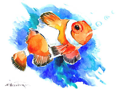 Clown Fish Digital Art - Clownfish by Suren Nersisyan
