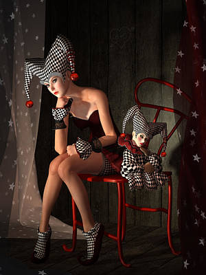 Symbolic Mixed Media - Clowns Not Joking by Britta Glodde