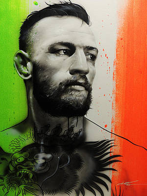 Conor Mcgregor - 'c.m.g' Print by Christian Chapman Art