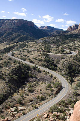 Somewhere Higher Photograph - Cnm Switchbacks Full Color by Dylan Punke