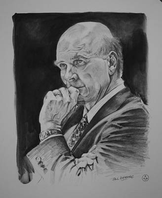 Sweet Sixteen Drawing - Coach Phil Martelli by Paul Autodore