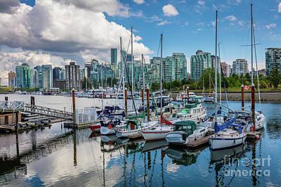 British Columbia Photograph - Coal Harbor Marina by Inge Johnsson