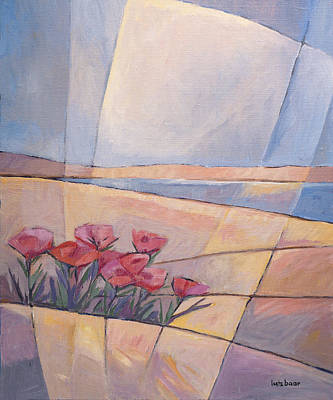 Handpainted Painting - Coast Flowers by Lutz Baar