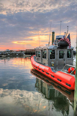 Us Flag Photograph - Coast Guard Anacostia Bolling by JC Findley