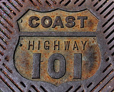 Coast Highway 101 Print by Russ Harris