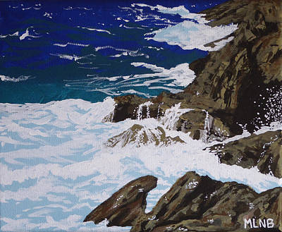 Sea Painting - Coastal Falls by Margaret Brooks