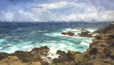 Horizontal Digital Art - Coastal Maui II by Jon Glaser