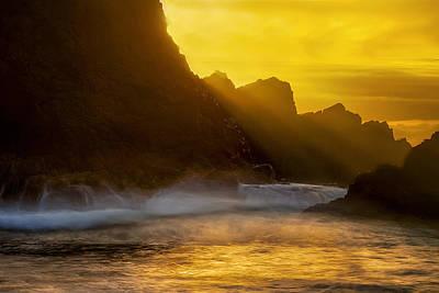 Oregon Photograph - Coastal Rays by Andrew Soundarajan