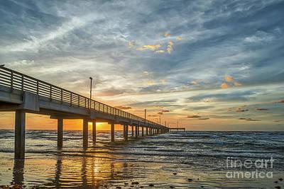 Beach Photograph - Coastal Sunrise Glow by Tod and Cynthia Grubbs