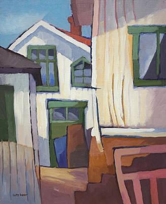 Wooden Houses Painting - Coastal Village by Lutz Baar