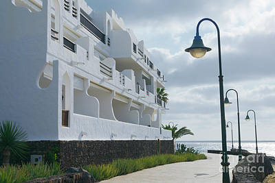 Old City Photograph - Coastal Walk In Lanzarote, Arrecife, Canary Islands by Dani Prints and Images