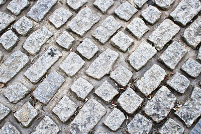 Cobbled Road Print by Tom Gowanlock