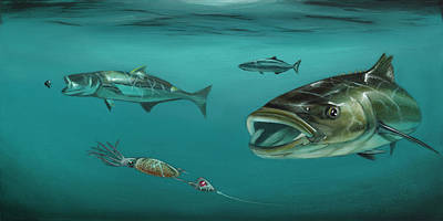 Ling Painting - Cobia Jig by David Womack