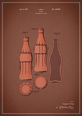 Coca Cola Bottle Patent 1937 Print by Mark Rogan